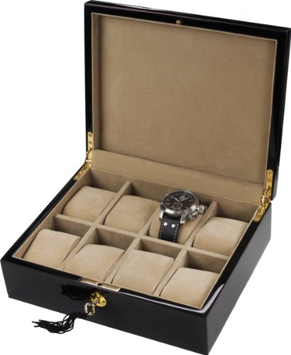Auer Accessories Alope 038B Watch Box For 8 Watches Piano polishAuer Accessories Alope 038B Watch Box For 8 Watches Piano polish