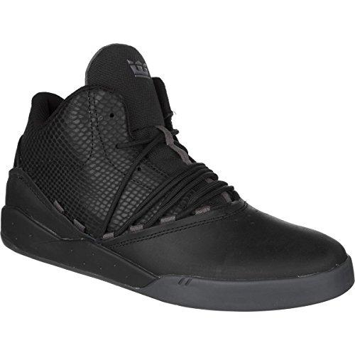 Supra Stevie Williams Signature Estaban Skate Shoe – Men's Black Leather/Black Snake Leather, 13.0
