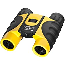 BARSKA 10x25 Compact Waterproof Binocular (Yellow)