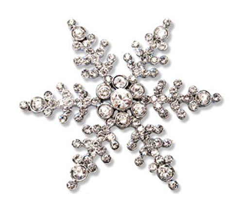 "Swarovski Crystal Snowflake Pin, Ornament And Pendant Necklace, 32"" Wilson A. Bentley Snowflake"