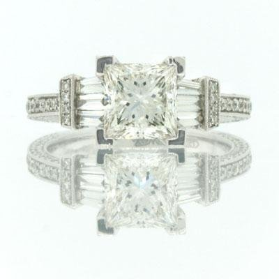 2.58ct Princess Cut Diamond Engagement Anniversary