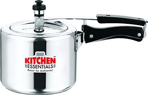 Kitchen Essentials Aluminium Pressure Cooker - 3 Litre INNER LID  available at amazon for Rs.1045