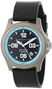 "Momentum Women's 1M-SP17A1B ""Heatwave"" Titanium Watch with Black Rubber Band"
