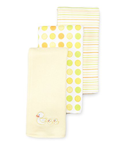 SpaSilk Unisex-Baby Newborn 3 Pack 100% Cotton Burp Cloths