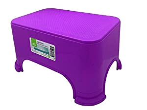 "Click Home Design - Purple Step Stool - Bright & Beautiful Collection - 11.5"" x 7.3"" x 6.5"" inches by Black Duck Brand"
