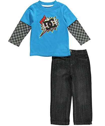 """Dc Shoes Baby Boys' """"Comic Pow"""" 2-Piece Outfit - Turquoise, 18 Months front-810038"""