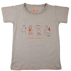NeedyBee Kids T-Shirt Organic Cotton (Tee Shirt) T-Shirt in ANIMALS Theme Short Sleeve for 2 - 9 Years Baby Boys and Baby Girls