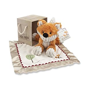 Baby Aspen Fox in a Box Plush Fox and Lovie Gift Set