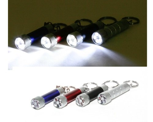 Mini Torch Flashlight Keychain With 5 Leds Assorted Colors Sent Randomly
