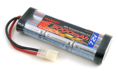7.2V Tenergy 3000mAh Flat NiMH High Power Battery Packs with Tamiya Connectors for RC Cars