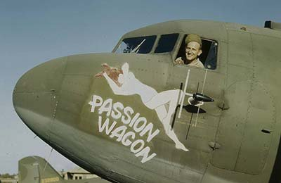 Photo Passion Wagon Nose Art Consolidated B-24 Bomber Liberator