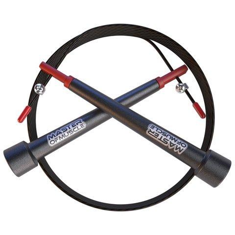 corda-per-saltare-crossfit-veloce-nera-cavo-in-acciaio-regolabile-jump-rope-leggera-per-lallenamento