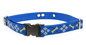 Lupine 3/4-Inch Dapper Dog 12-17-Inch Containment Collar Strap for Small to Medium Dogs