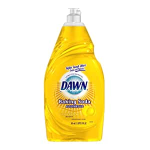 Dawn Ultra Plus Baking Soda Alternative Dishwashing Liquid, Lemon and Citrus Scent, Yellow,  19-Ounce