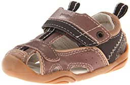 pediped Grip-N-Go Piers Sandal (Toddler),Brown,23 EU (7 M US Toddler)