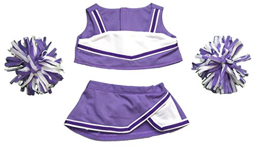 Purple-and-White-Cheerleader-Outfit-Teddy-Bear-Clothes-Fit-14-18-Build-a-bear-Vermont-Teddy-Bears-and-Make-Your-Own-Stuffed-Animals