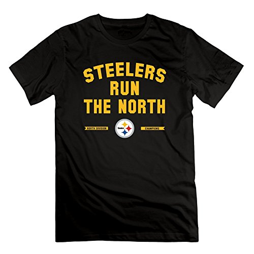 [LUCIA Pittsburgh Steelers Run For North Champion T Shirt Black For Men's] (Crazy One Direction Fan Costume)