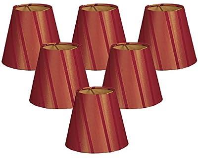 Royal Designs Hardback Empire Burgundy/Gold Chandelier Lamp Shade