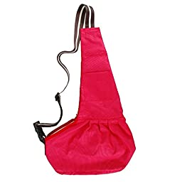 LUXMO® Pet Sling-Style Carrier Dog Cat Sling Travel Bag Small Size Red