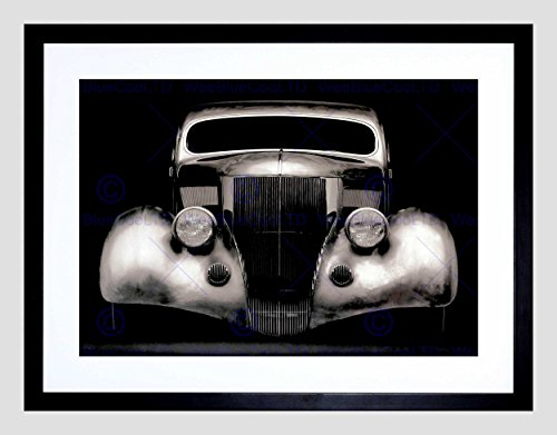 VINTAGE PHOTOGRAPHY CLASSIC CAR AUTOMOBILE COOL FRAMED ART PRINT MOUNT B12X3457 (Classic Car Photography compare prices)