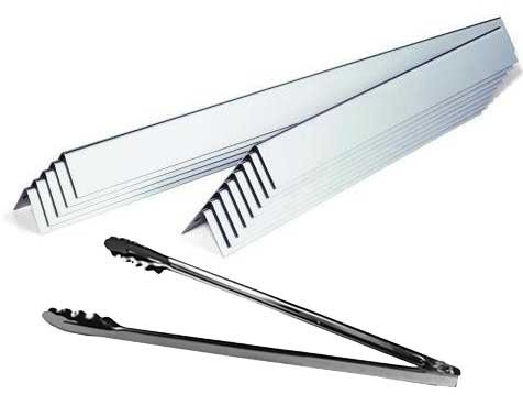 Best Deals! Aftermarket Stainless Flavorizer Bars, Model 7538, (16 Ga.) with Tongs