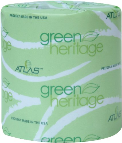 """Green Heritage 248 Bathroom Tissue, 2-Ply, White, 4.1"""" Length X 3.1"""" Width, 400 Sheets (Case Of 96) front-760385"""