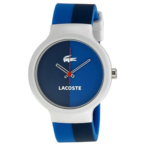 Lacoste GOA Navy and Blue Dial White Plastic Unisex Watch 2020035