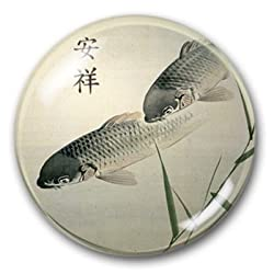 Peaceful Koi - Crystal Dome Paperweight