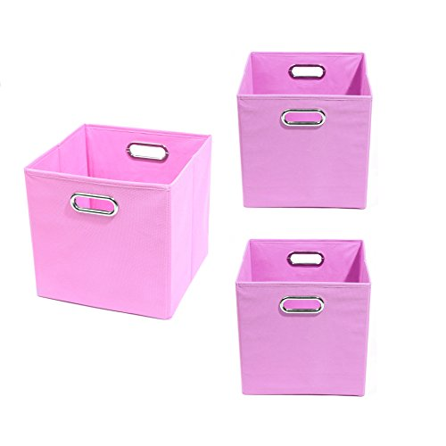 Modern Littles Organization Bundle-3 Storage Bins, Rose Pink