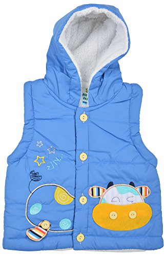 Kuchipoo Unisex Jacket Hoodies (KUC-JAC-103_3-12 Months, Royal Blue)