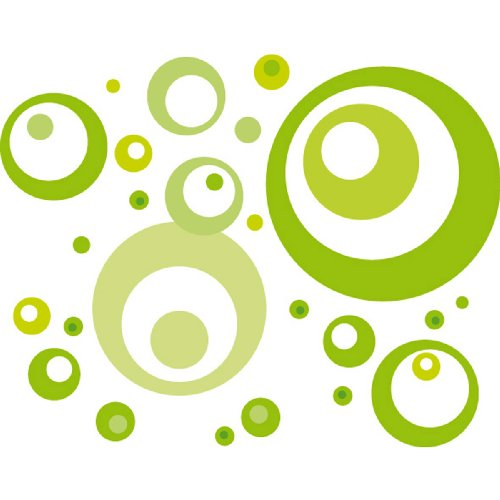 eurographics-ds-dt2061-decorative-sticker-wall-tattoo-lime-green-bubbles-50x70cm