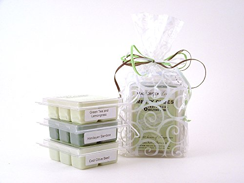 Zen Garden 3Pk Melty Cube Scented Wax Melt Sampler Features 3 Fragrances Including Green Tea & Lemongrass, Himilayan Bamboo, And Cool Citrus Basil. 3-Pack Of Naturally Strong Scented Food-Grade Wax Cubes Throw 60+ Hours Of Fragrance When Melted In Scentsy
