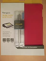 Targus Slim Case & Stylus Combo for iPad 3rd Gen. (Red)