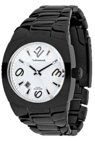 Vestal Gearhead Watch Black / White / Polished