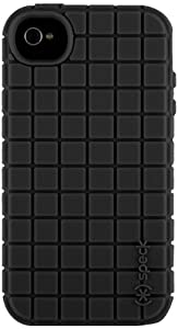 Speck Products PixelSkin Rubberized Case for iPhone 4/4S - 1 Pack - Carrying Case - Retail Packaging - Black