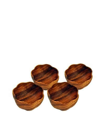 Acaciaware Set of 4 Round 6″ Flared Individual Bowls