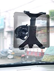 LotFancy - (US Shipping) - Universal New Easy Smart Tap Dashboard Car Windshield & Desk & counter Top Mount Bracket Holder Cradle (360Rotatable)