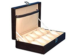Fico Brown Watch case For 10 Watches 10WC4