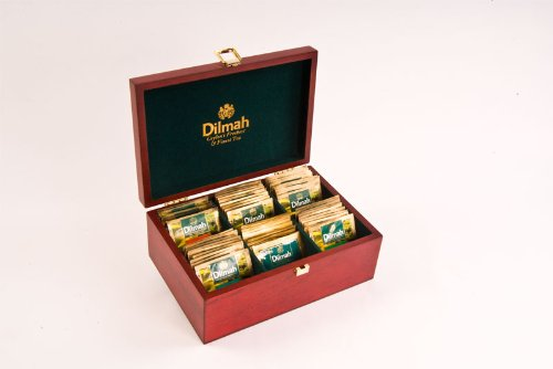 Dilmah, Luxury Wooden Presenter, Variety Of Six Teas, Single Origin, Pure Ceylon, 60 Count