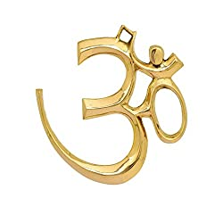 Brass Metal Om Sign For Home Decor