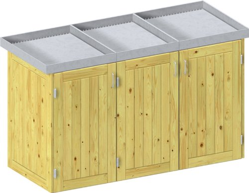 gartenpirat anbauelement f r m lltonnenbox holz erweiterungselement f r 1 m lltonne 240 l. Black Bedroom Furniture Sets. Home Design Ideas