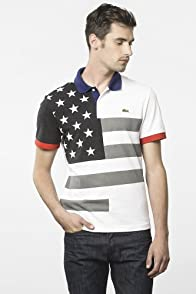 Short Sleeve Pique United States Flag Polo