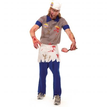 Zombie Brain Burger Guy Costume - Large - Chest Size 46-48
