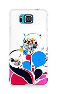 Amez designer printed 3d premium high quality back case cover for Samsung Galaxy Alpha (Patterns colorful bright notes treble)