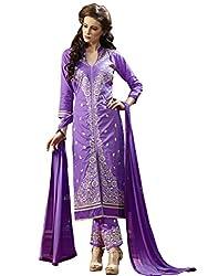 Ethnic Fashion Classic Purple Embroidered Salwar Kameez