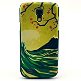The Wave Flower Pattern Hard Back Cover Case For Samsung Galaxy S4 Mini I9190 - Multi Colour