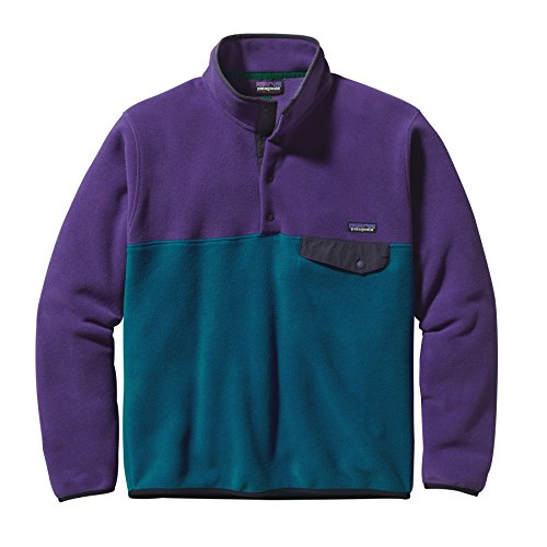 Patagonia Lightweight Synchilla Snap-T Fleece Jacket - Men's Underwater Blue/Purple, L