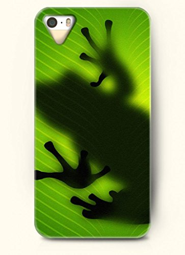 Oofit Phone Case Design With Frog Crawling On The Leaf For Apple Iphone 5 5S 5G front-337009