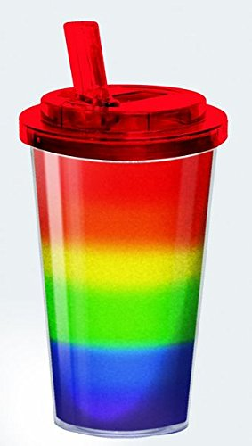16 Ounce Insulated Rainbow Acrylic Tumbler Cup (Magic Color Twist Loom compare prices)