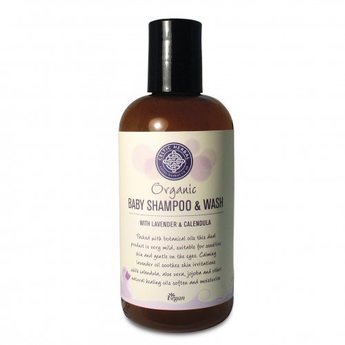 Organic Baby Shampoo & Wash by Celtic Herbal 250ml VEGAN